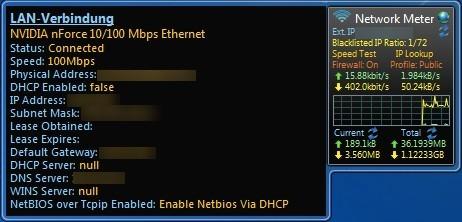 Screenshot 1 - Network Meter