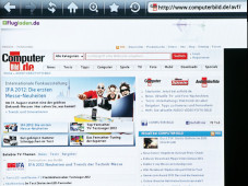 Anzeige Internet Samsung UE40ES5700©COMPUTER BILD