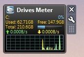Screenshot 1 - Drives Meter