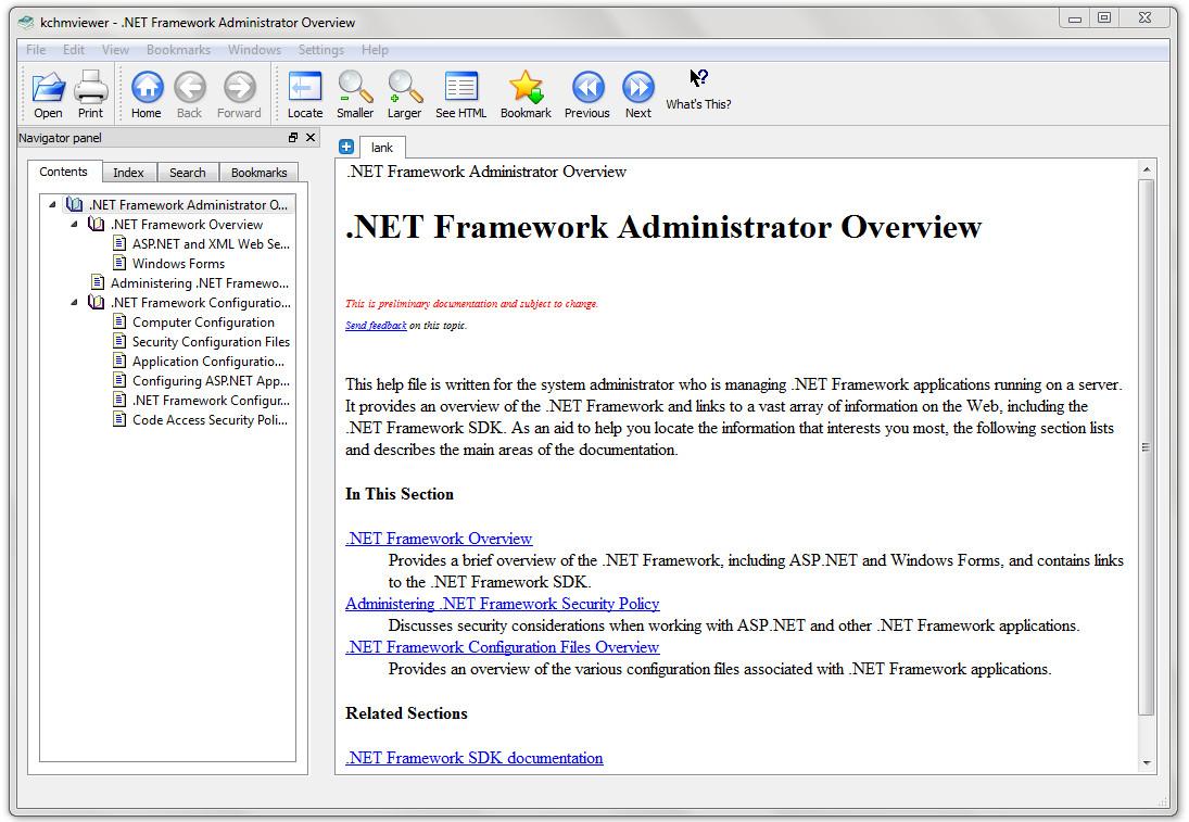 Screenshot 1 - KchmViewer Portable