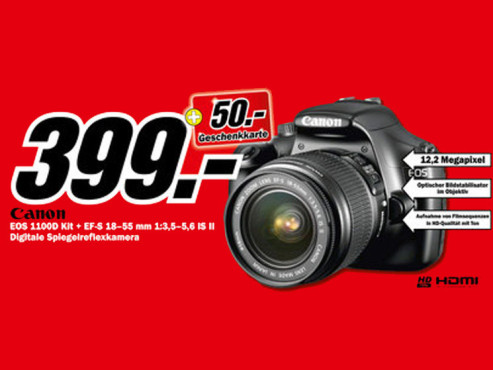 Canon EOS 1100D Kit 18-55 mm ©Media Markt