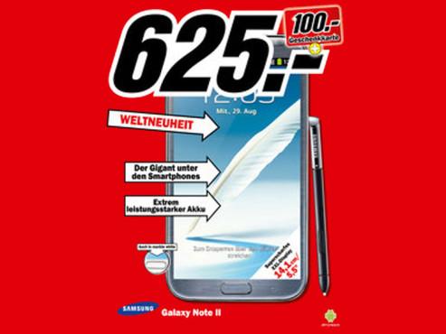 Samsung Galaxy Note 2 ©Media Markt