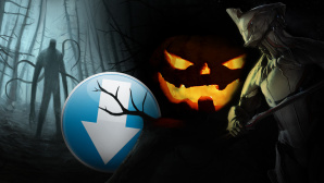 Download-Pfeil neben Halloween-Symbolen wie Zombie © istock/CrailsheimStudio, Parsek Productions, Digital Extremes Ltd.