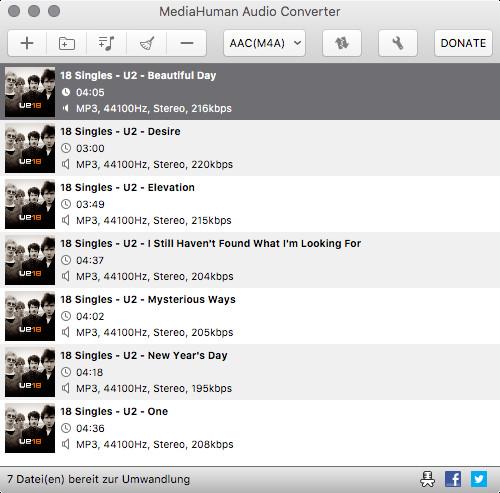 Screenshot 1 - MediaHuman Audio Converter (Mac)