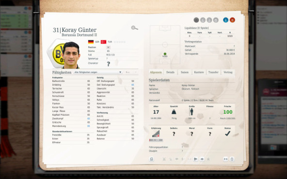 Simulation Fußball Manager 13: Günter ©Electronic Arts
