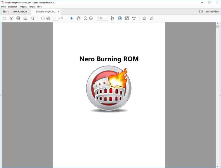 Screenshot 1 - Nero 2018 (Handbuch)