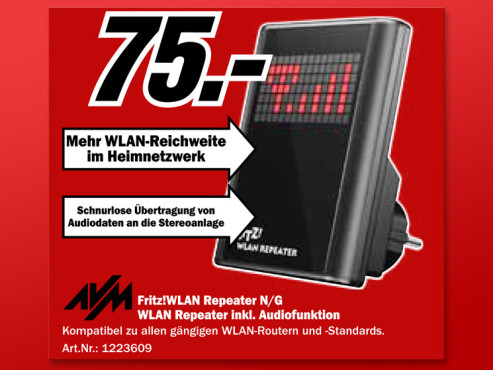 AVM Fritz WLAN-Repeater N/G © Media Markt