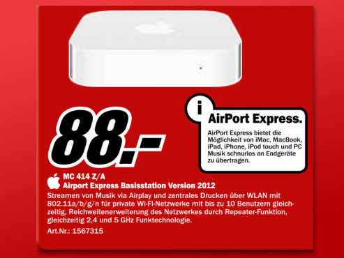 Apple Airport Express Basisstation © Media Markt