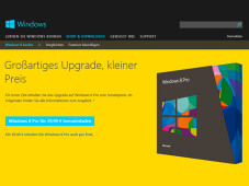 Windows 8 als Upgrade-Version©Microsoft