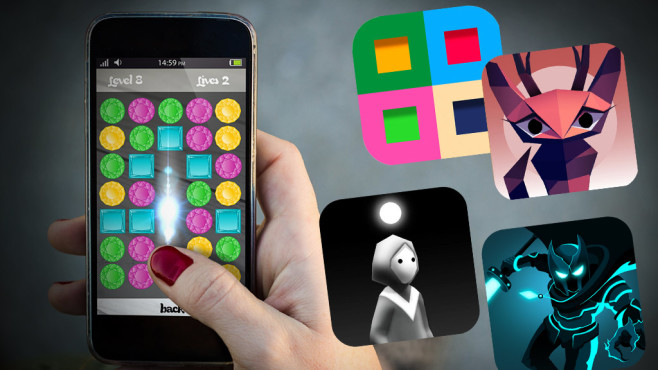 Spiele-Apps © iStock.com/milindri, 4L Games, Flippfly, Snow Games, Ian MacLarty