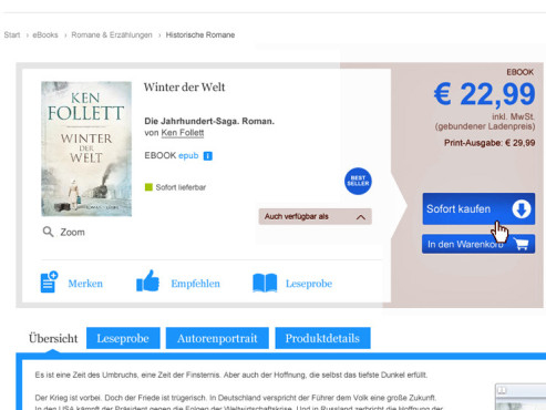 So Funktioniert Der Ebook Kauf Bei Ebookde Bilder Screenshots