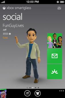 Xbox 360: Smartglass©Microsoft