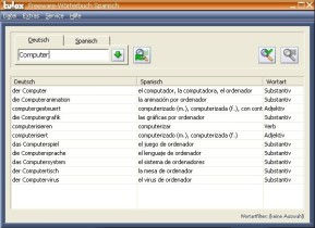 Tulox Freeware-Wörterbuch (Spanisch)