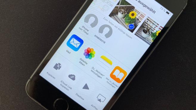 iPhone 5S: Airdrop©COMPUTER BILD