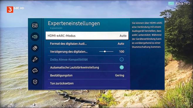 Über ihren HDMI-ARC-Anschluss geben Fernseher den Ton an Soundbars und AV-Receiver aus, bei Modellen mit eARC inklusive Dolby Atmos.©COMPUTER BILD