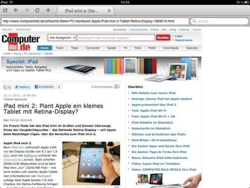 Screenshot Apollo Browser ©COMPUTER BILD