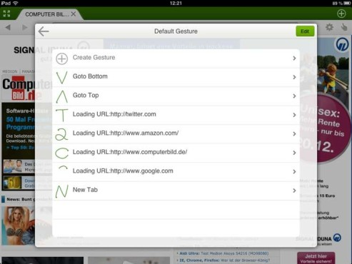 Screenshot Dolphin Browser für iOS ©COMPUTER BILD