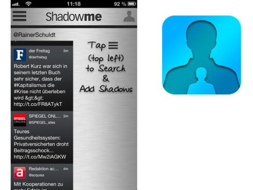 ShadowMe for Twitter ©Tendy Apps LLC