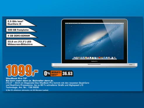 "Apple MacBook Pro 13"" (MD101D/A) ©Saturn"