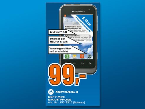 Motorola Defy Mini (XT320) ©Saturn