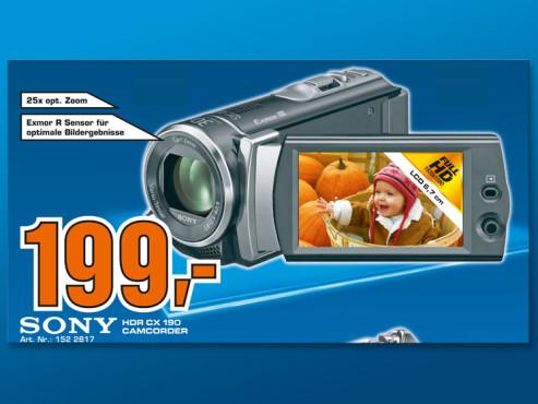 Sony HDR-CX190E ©Saturn