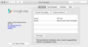 Google Music Manager (Mac)
