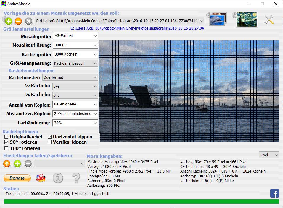 Screenshot 1 - AndreaMosaic Portable