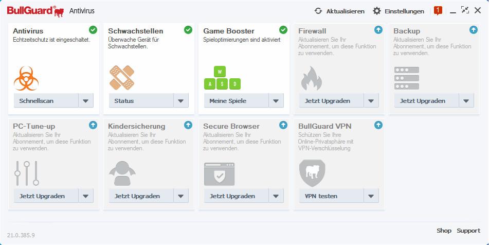 Screenshot 1 - BullGuard Antivirus 2021