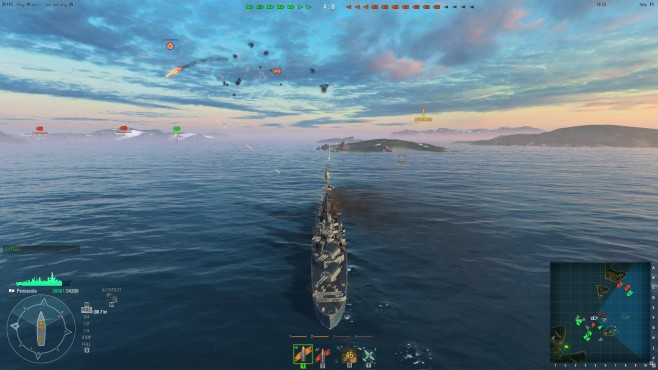Actionspiel World of Warships: UI © Wargaming.net