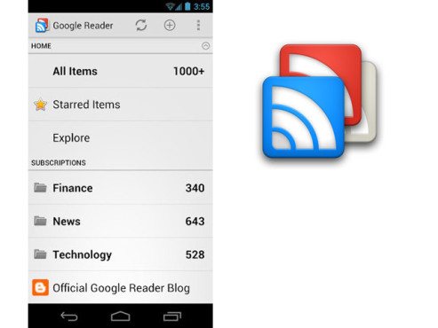 Google Reader ©Google Inc.
