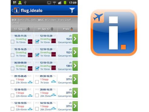 Idealo-Flugsuche ©Idealo Internet GmbH