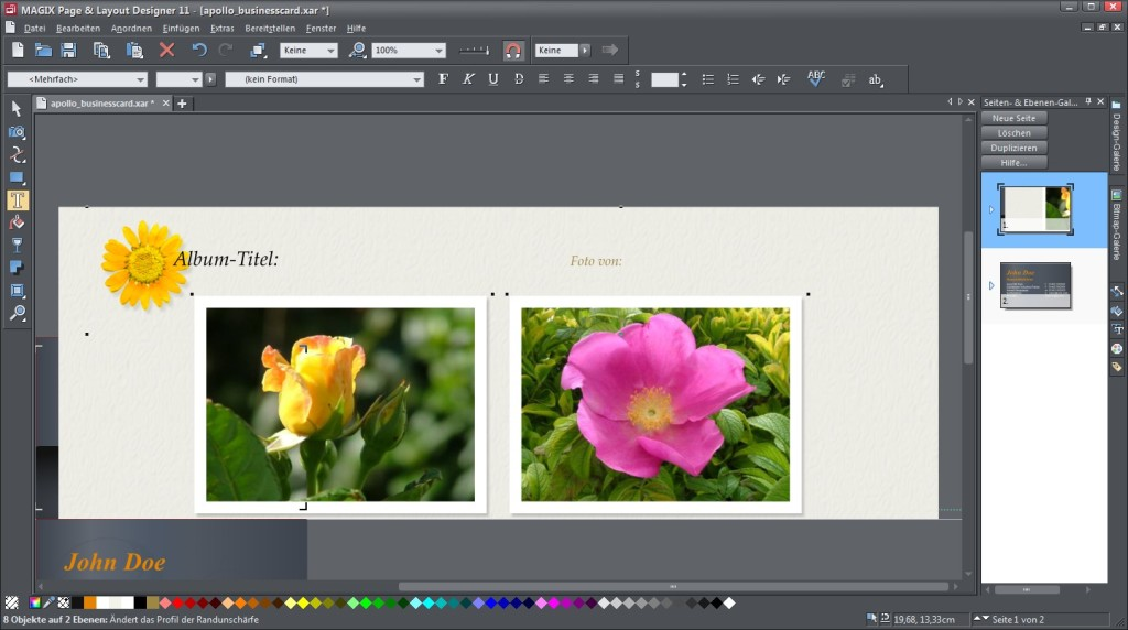 Screenshot 1 - Magix Page & Layout Designer