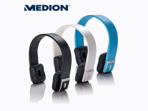 Medion E83047 (MD 86751) Bluetooth-Kopfhörer, erhältlich bei Aldi Nord ©Aldi