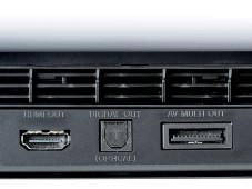 Anschlüsse Sony Playstation 3 (PS3) Super slim 500GB©COMPUTER BILD