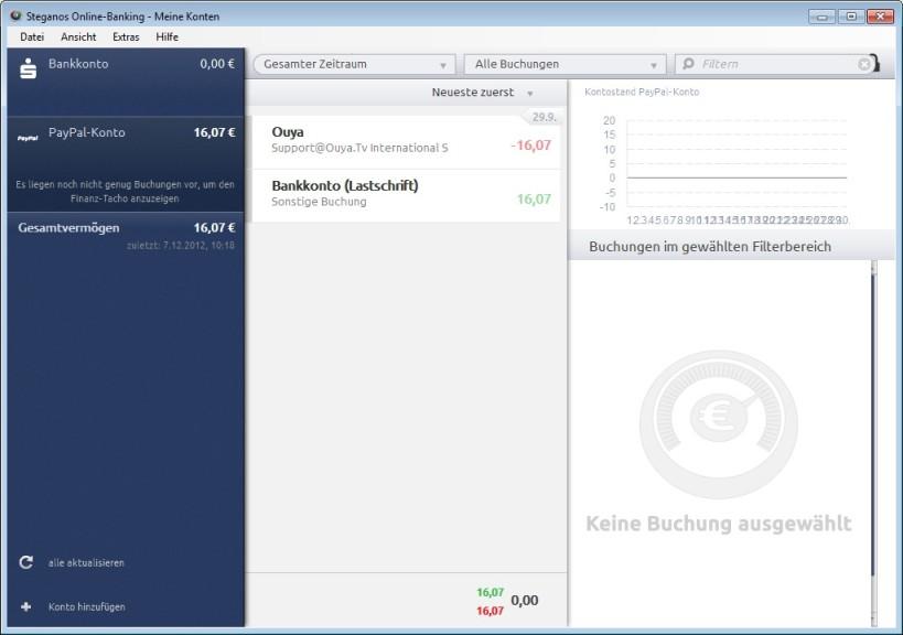 Screenshot 1 - Steganos Online-Banking Free