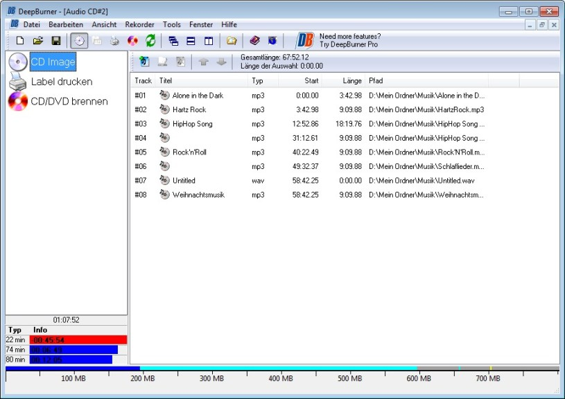 Screenshot 1 - DeepBurner Free