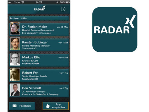 Radar for Xing © twofloats GmbH