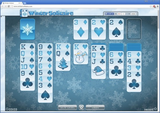 Winter Solitaire ©24/7 Games