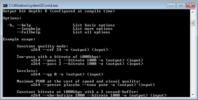 Screenshot 1 - x264 Video Codec