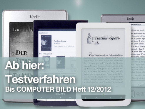eBook-Reader bis 12/2012 © COMPUTER BILD
