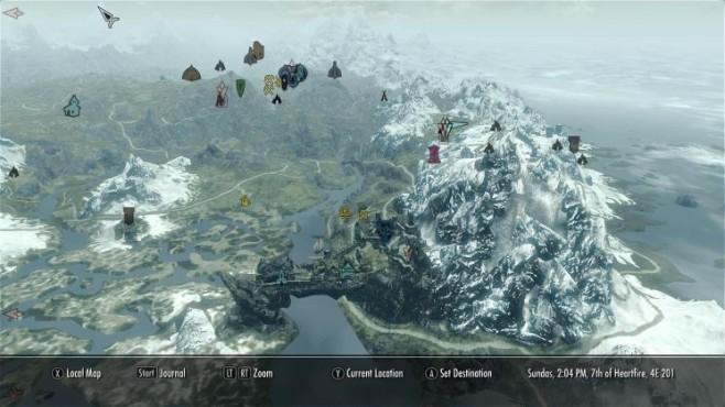 Rollenspiel The Elder Scrolls 5 – Skyrim: Karte ©Bethesda