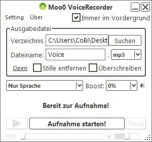 Screenshot 1 - Moo0 VoiceRecorder