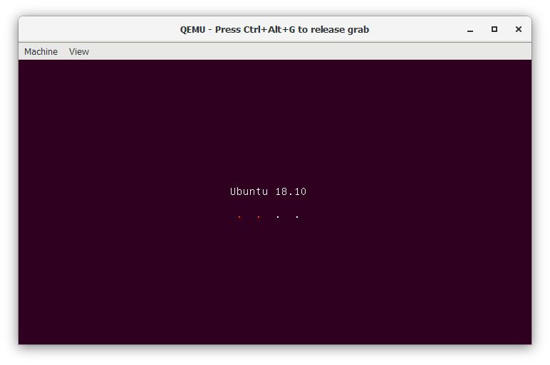 Screenshot 1 - QEMU on Windows
