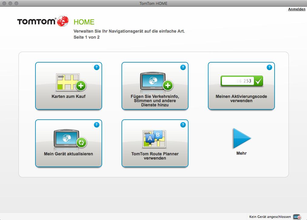 Screenshot 1 - TomTom Home (Mac)