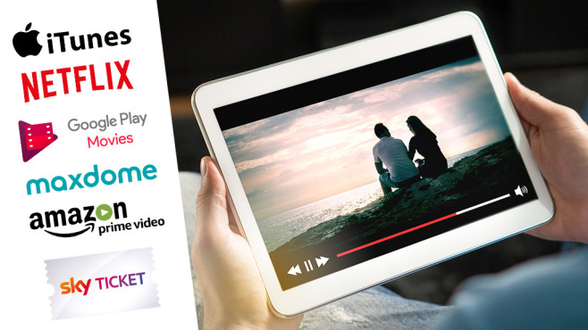 Video-on-Demand-Anbieter im Test © istock/Tero Vesalainen, Netflix, Amazon, Maxdome, Google, Apple, Sky