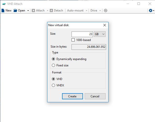 Screenshot 1 - VHD Attach