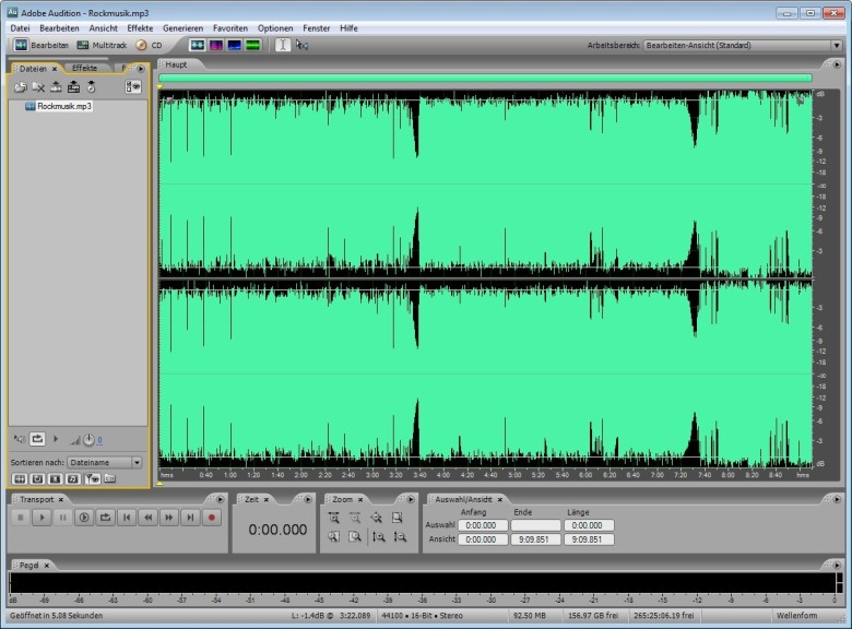 Screenshot 1 - Adobe Audition 3.0 – Vollversion