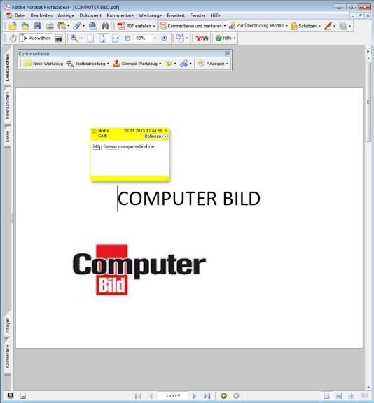 Screenshot 1 - Adobe Acrobat Pro 7 – Vollversion