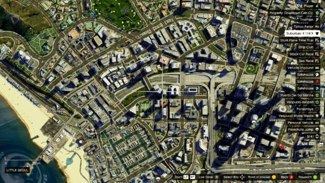 GTA 5: Satellite View Map 2K: Fast wie bei Google © gta5-mods.com by Designerappz
