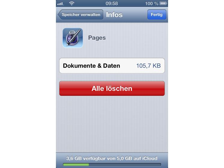 dateien vom iphone löschen